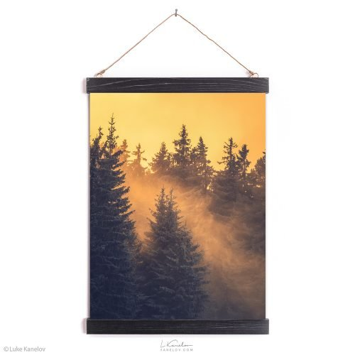 Winter forest landscape – Wall hanging